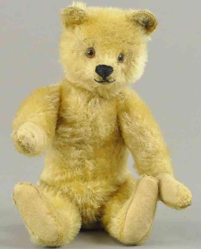 steiff goldener teddybaer glasugen mohair f knlpf