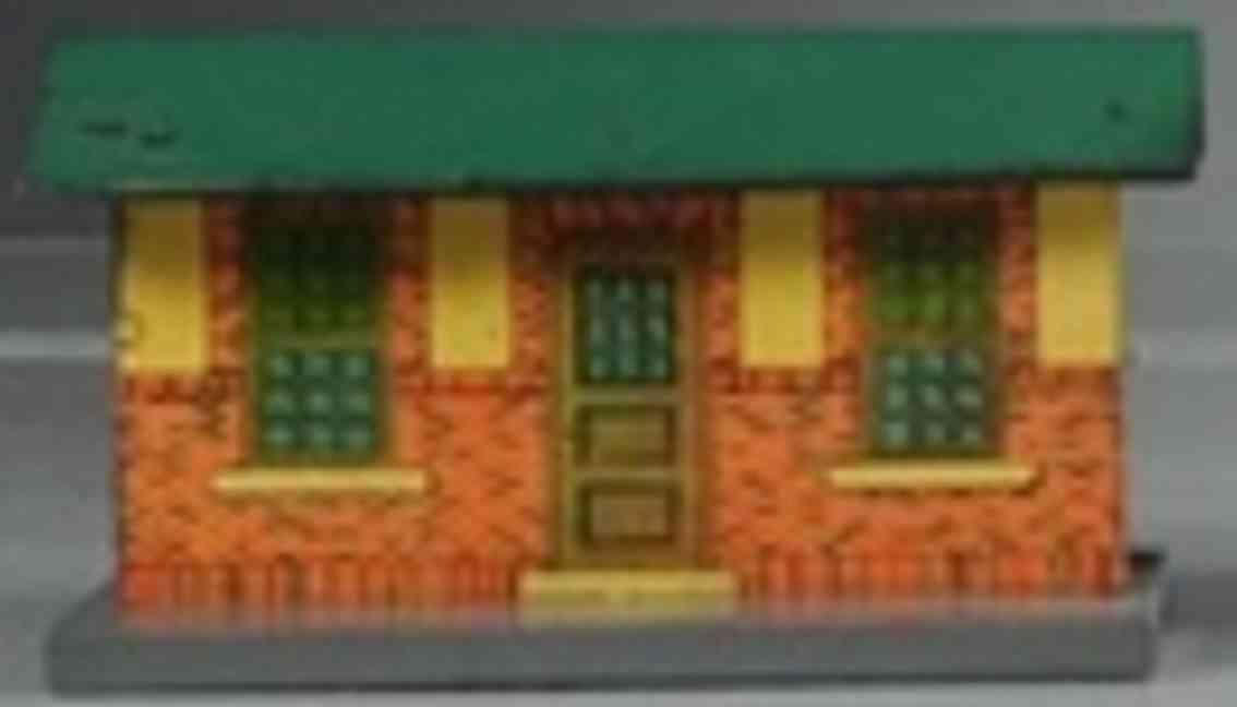 american flyer toy company 90 railway station tin green