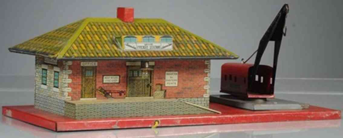 american flyer toy company 95 toy station with crane
