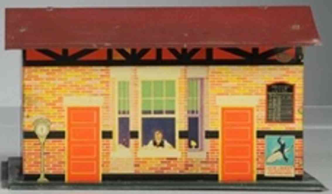 american flyer toy company railway station tin red join the navy