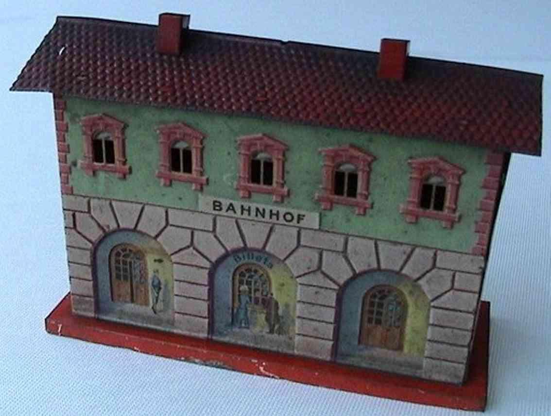 bing 13846/1 spielzeug eisenbahn bahnhof