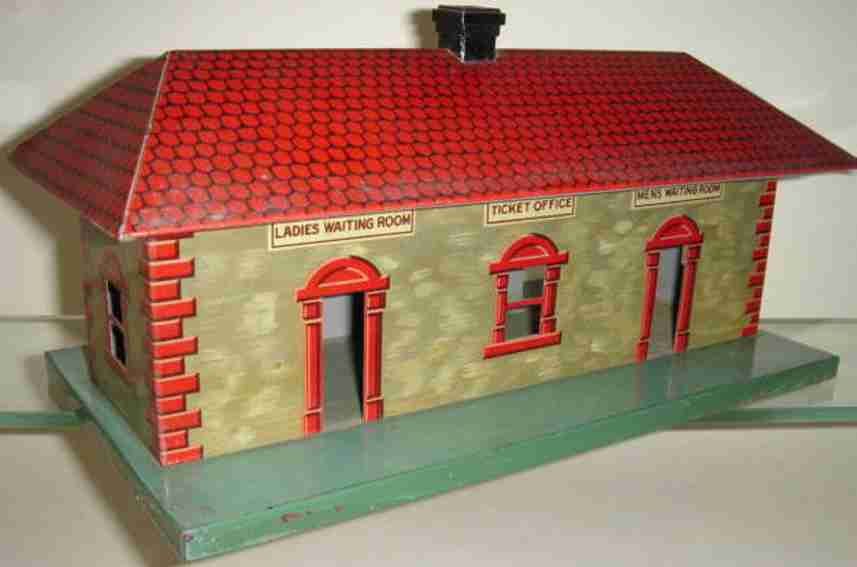 bing 70/620 540/10 toy railway station in american style