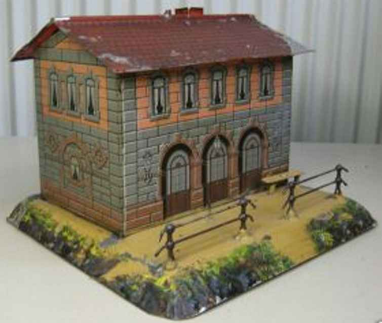 bing toy lithographed railway station