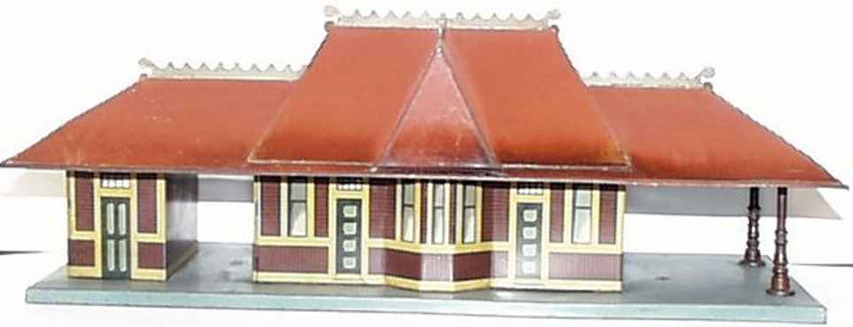 bing toy rairoad station with gingerbread