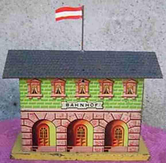 bing 13845/1 spielzeug eisenbahn bahnhof