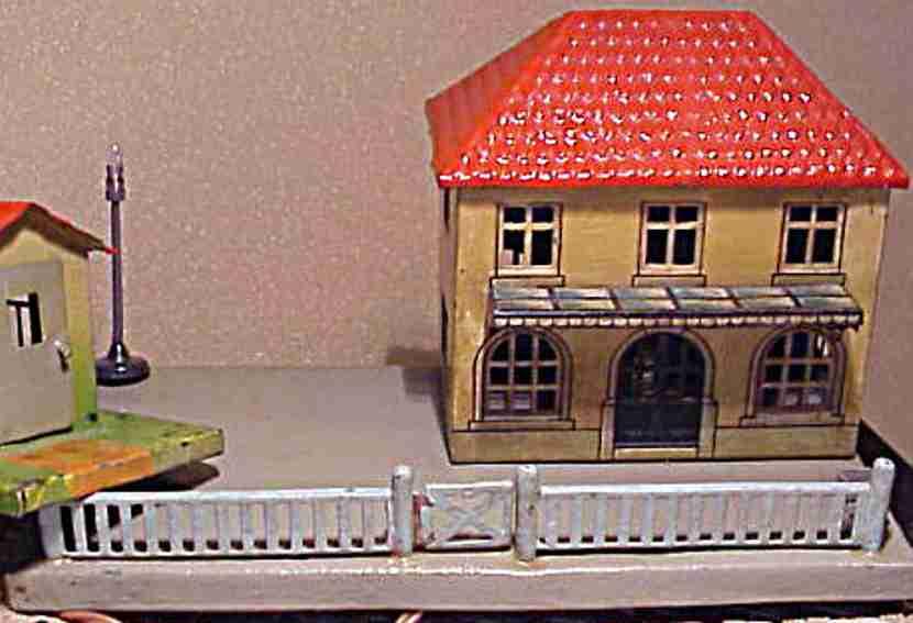 bub 1664 spielzeug eisenbahn bahnhof