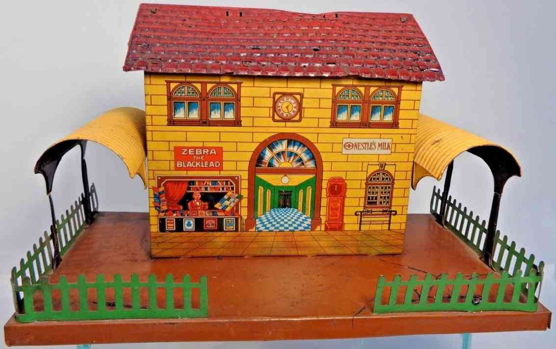bub toy train station canopy fences book store clock entry hall maps