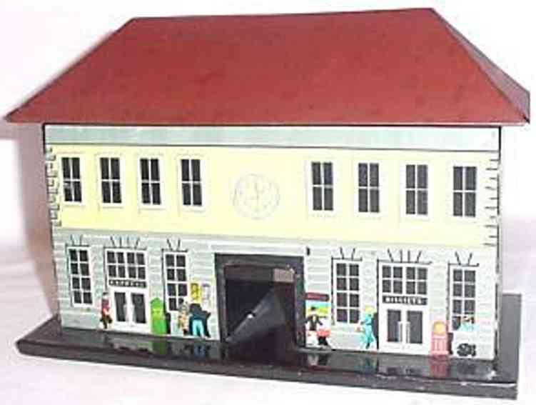 bub spielzeug eisenbahn bahnhof made in us zone