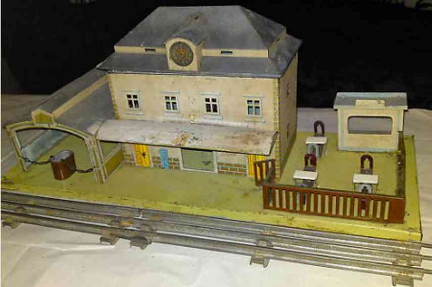 bub toy railway station side hall canopy fence three tables with chairs