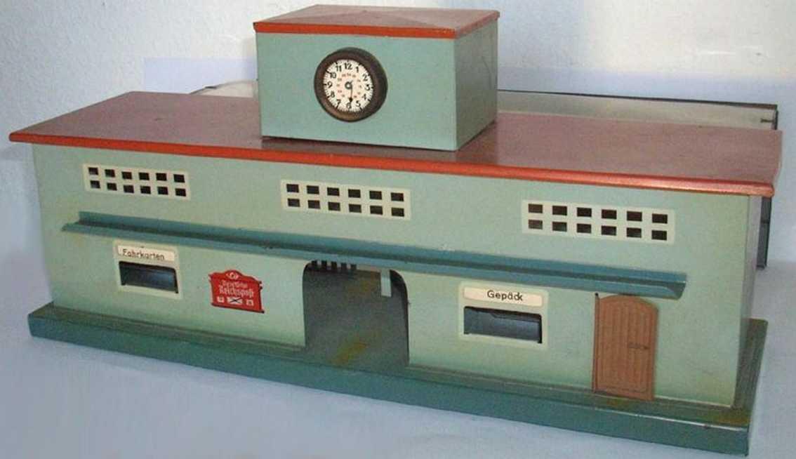 cabo turm mittig spielzeug eisenbahn bahnhof mit durchfahrthalle