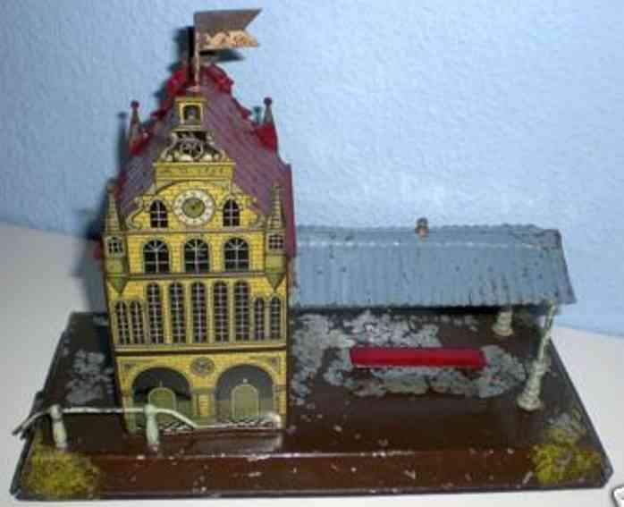 carette 647/32 spielzeug eisenbahn bahnhof