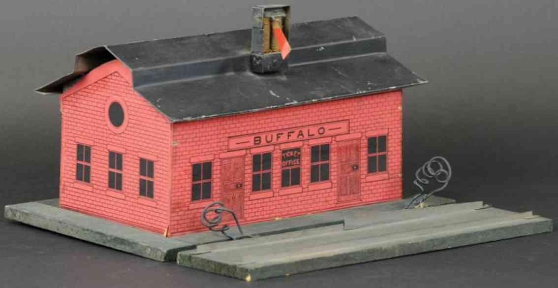 carlisle & finch toy buffalo station tin paper wood