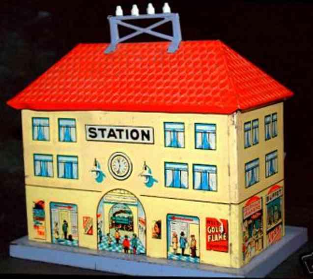 distler 103 toy small tin railway station