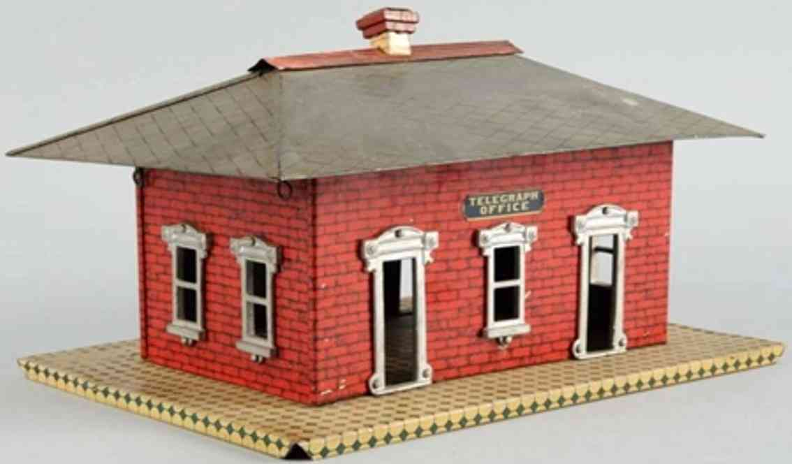 ives 113 1905 toy earliest passenger station red telegraph office