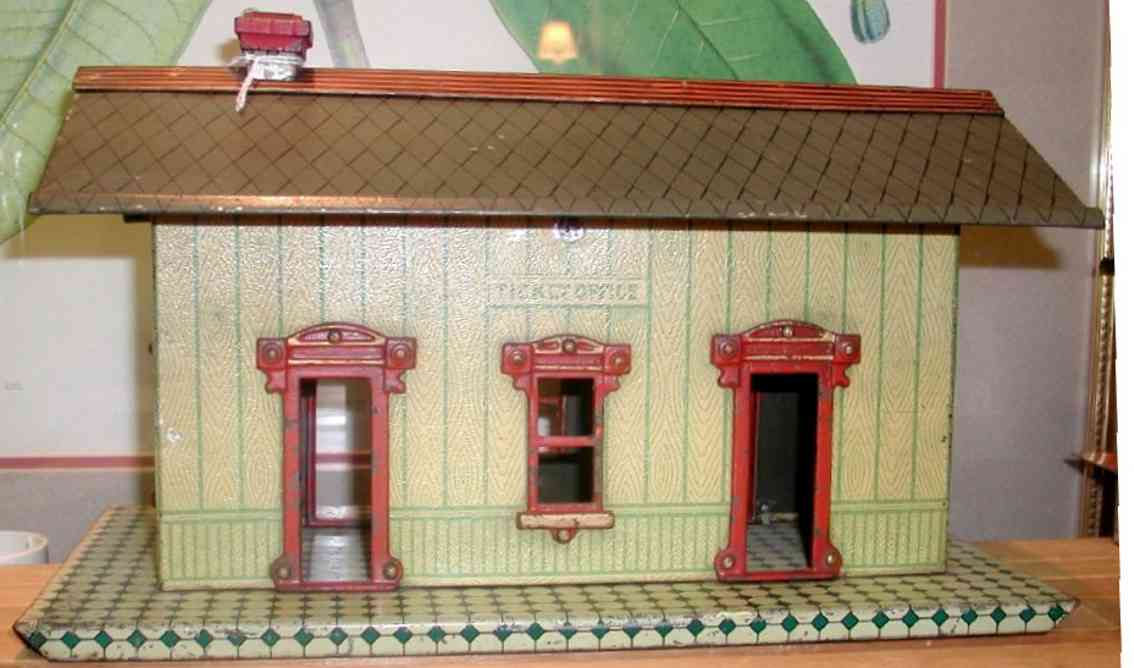 ives 114 1907  toy passenger station ticket office