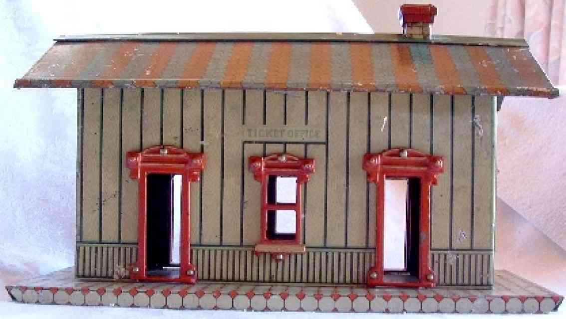 ives 114 1910 spielzeug eisenbahn bahnhof