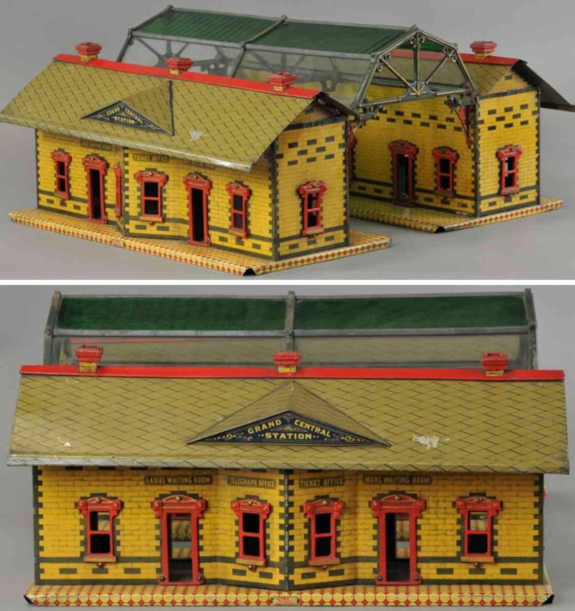 ives zwei 116 23 116 1907 bahnhoefe 23 glaskuppel