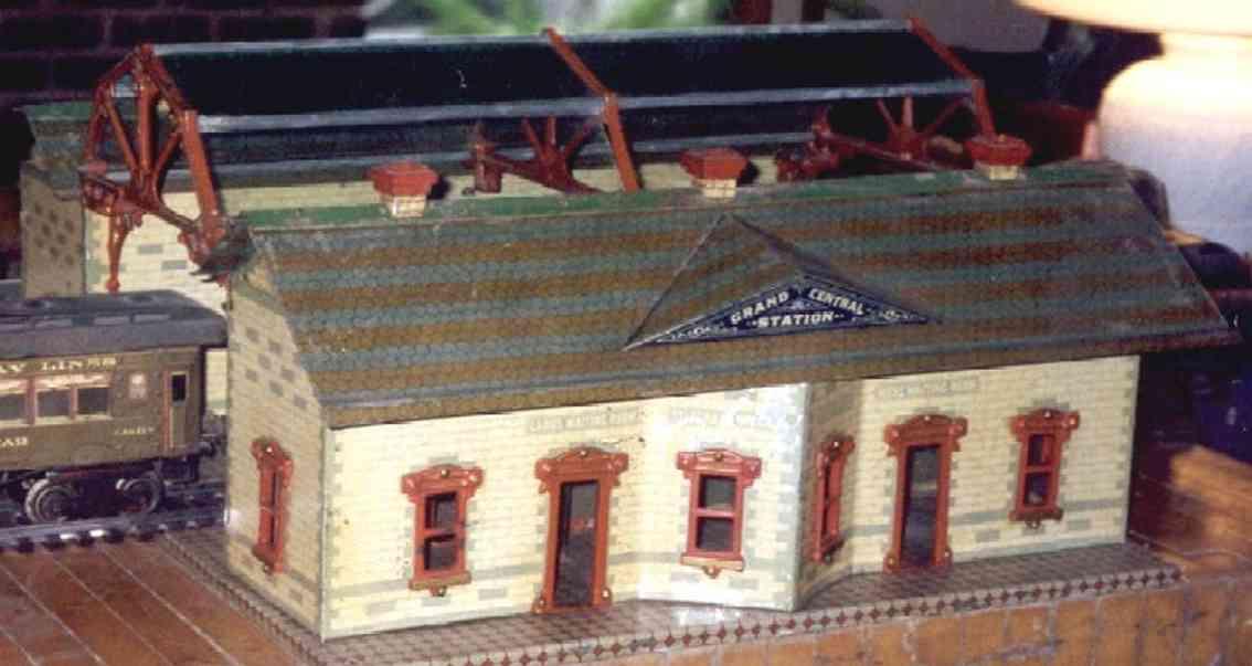 ives 123 1910 spielzeug eisenbahn zwei bahnhoefe mit einfahrtshalle