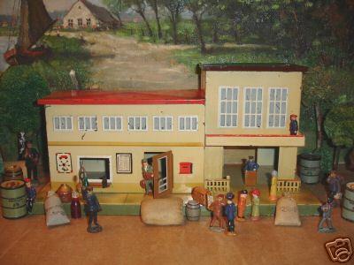 kibri 52/4 spielzeug eisenbahn blechbahnhof flughafen