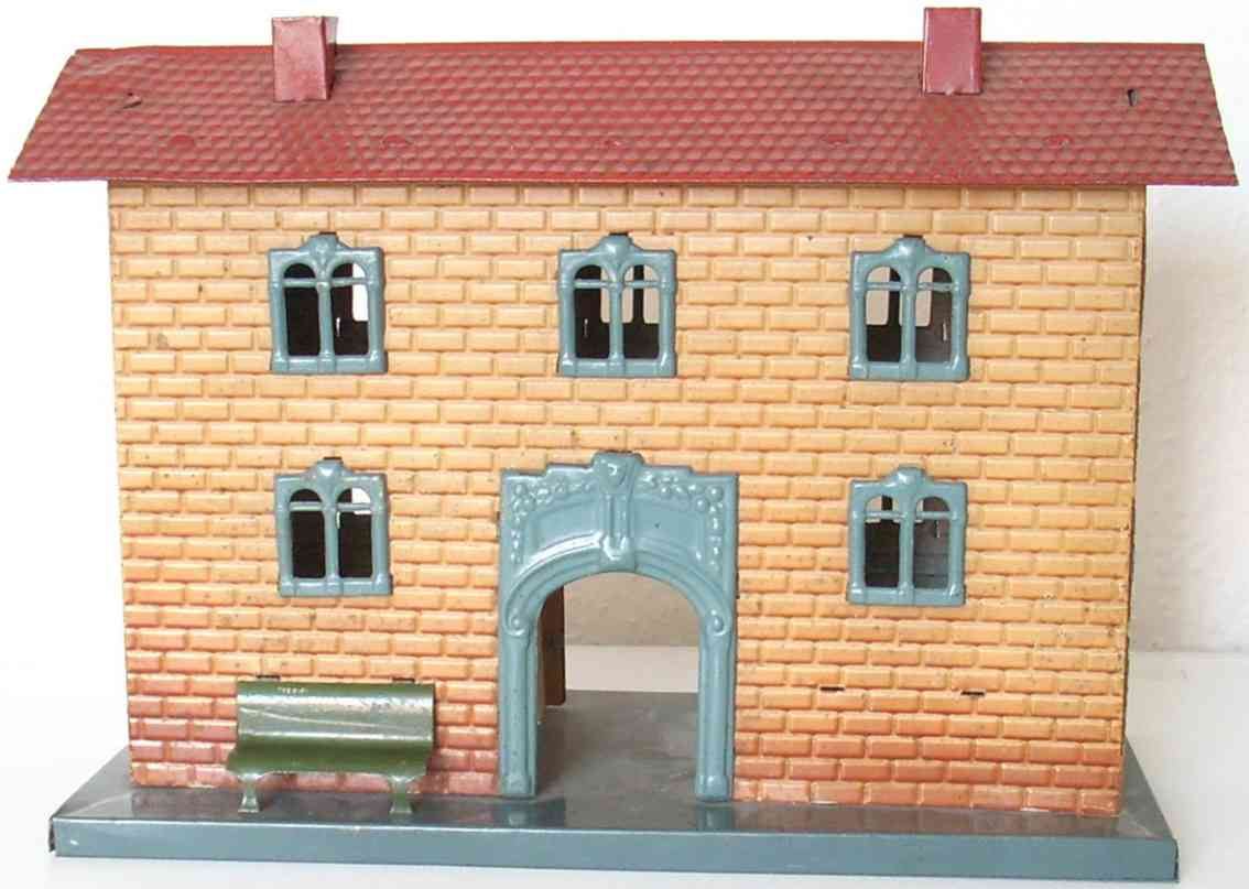 kraus-fandor 2040/1 toy railway station with brick