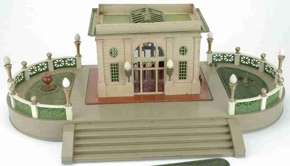 lionel 129 bahnhof mit terrasse und treppe