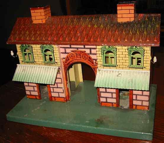 maerklin 2002 spielzeug eisenbahn bahnhof für kerzenbeleuchtung mit steinbemalung