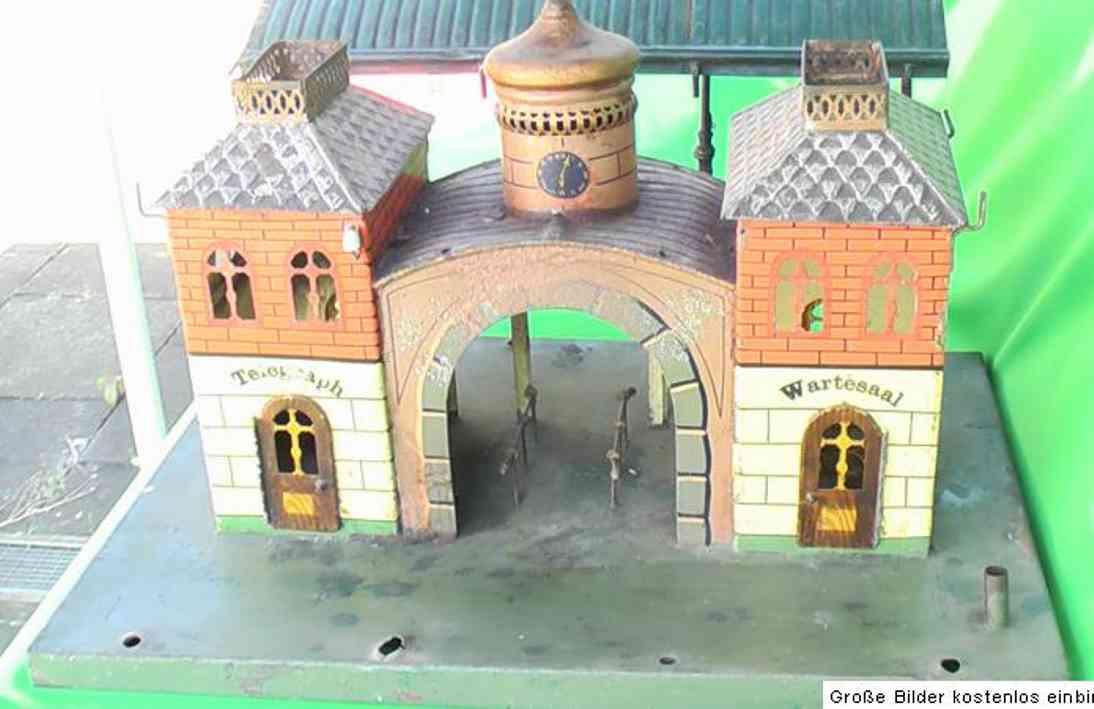 maerklin 2004/1 spielzeug eisenbahn central bahnhof mit halle und zwiebelturm