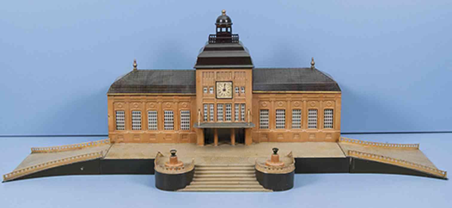 marklin 2036/0 1. gen toy railway station leipzig  stone base brown