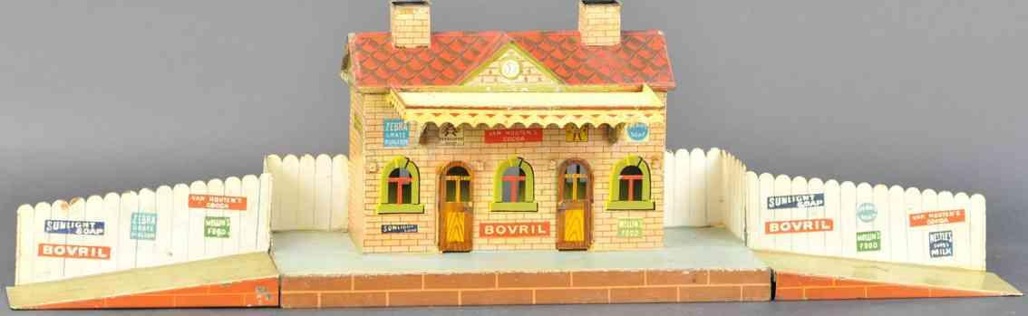 marklin 2846 toy english railway station with imitation brick bovril