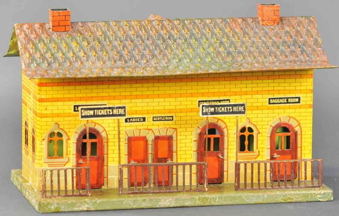 marklin maerklin 2912 toy american station stone buildig yellow