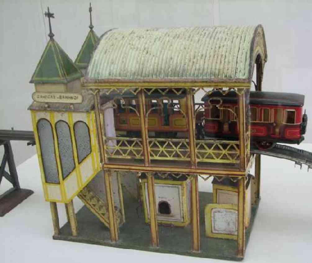marklin maerklin railway toy gear train station on two floors