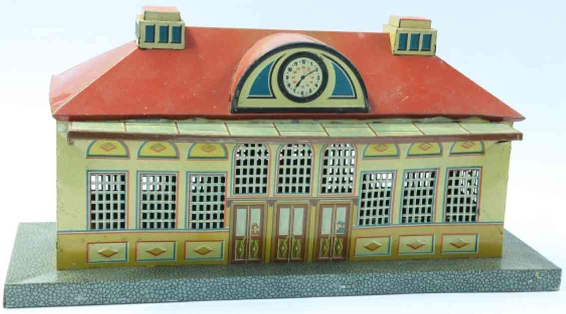 schuhmann,adolf 72f railway toy symmetrical big-city railway station