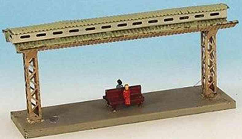 bing spielzeug eisenbahn bahnsteig mit doppelsitzbank und 2 figuren