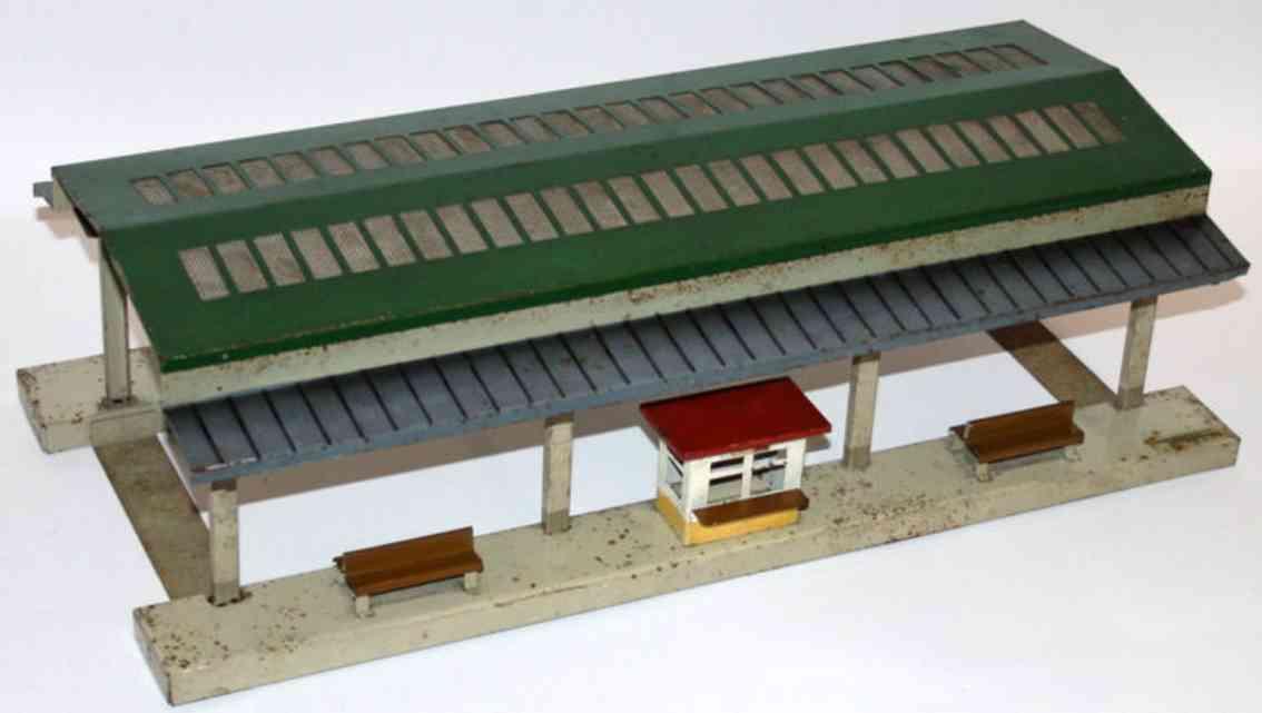 fleischmann 584 railway platform hall for double tracks