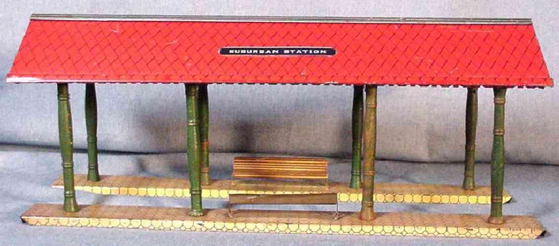 ives 1906 eisenbahn bahnsteighalle diamantfoermiges dach suburban station