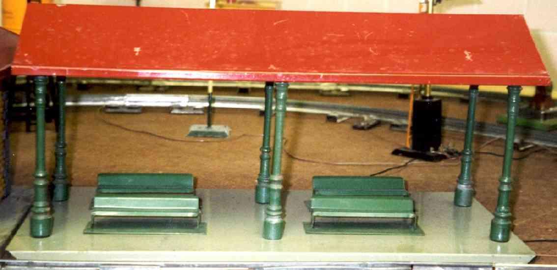 ives 117 (228) spielzeug eisenbahn bahnsteig bahnhalle der letze 117-er bahnsteig wurd im katalog von 1930 als numm
