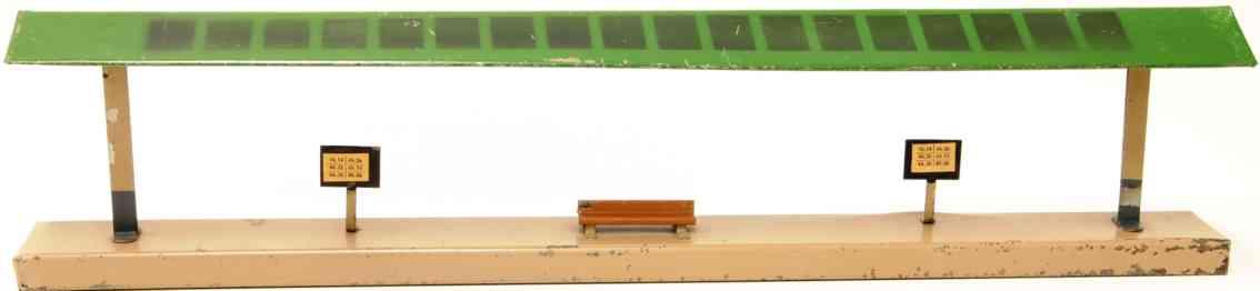 kibri 0/53/1 1949 railway toy  platform bench two timetables