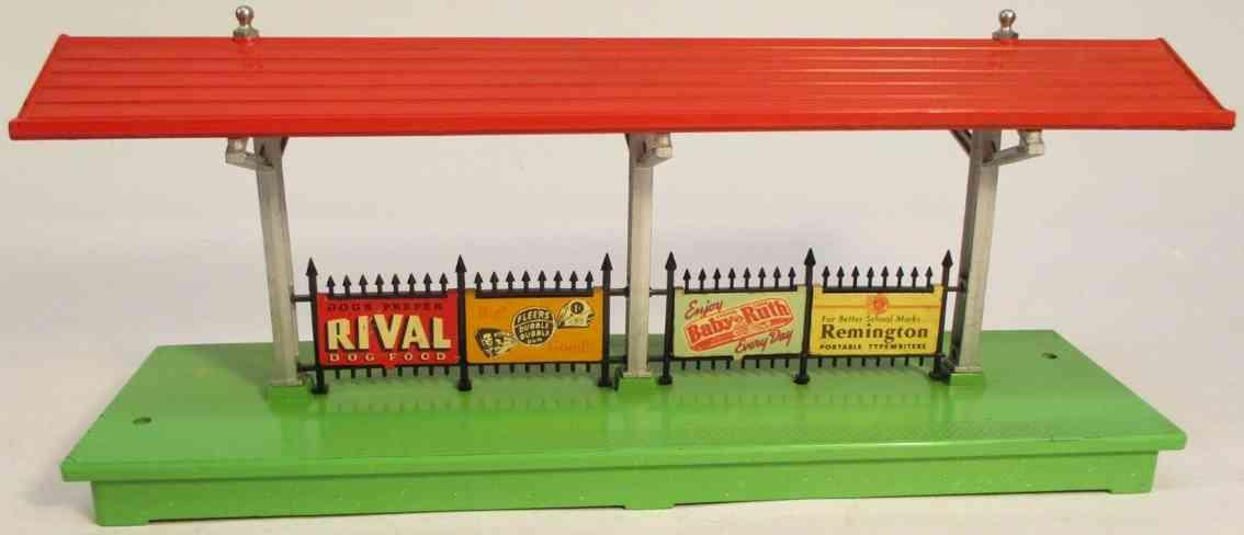 lionel 156 railway toy illuminated platform station bakelite
