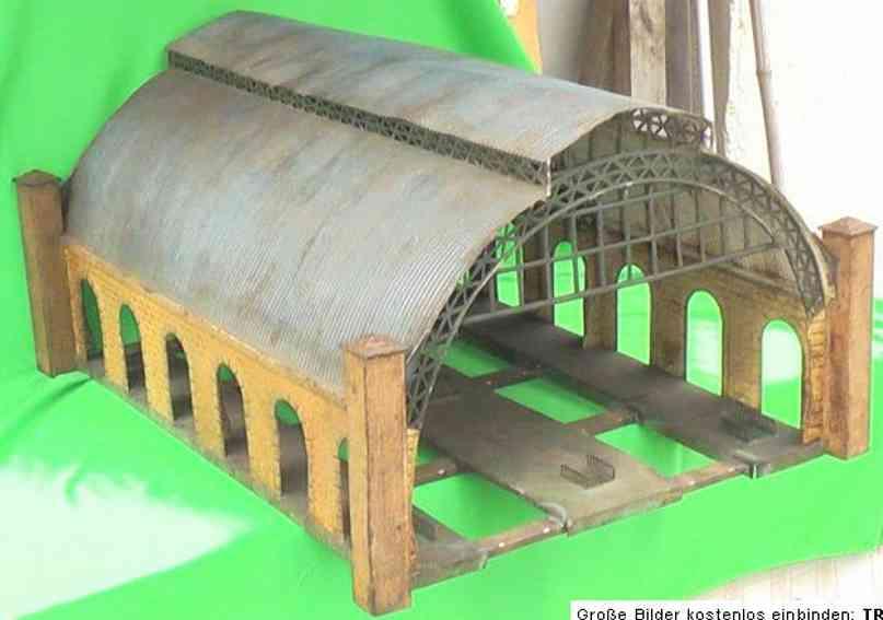 maerklin 2071/1 spielzeug eisenbahn bahnhalle bahnhofshalle mit wellblechdach