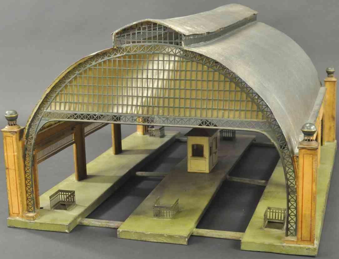 maerklin 2071/1 spielzeug eisenbahn bahnhalle wellblechdach 2. generatio