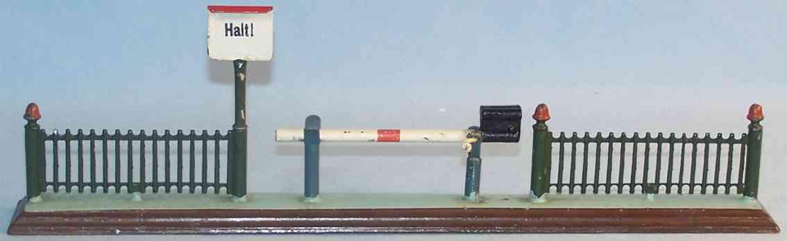 marklin 2219 spielzeug eisenbahn gittersperre mit schranke
