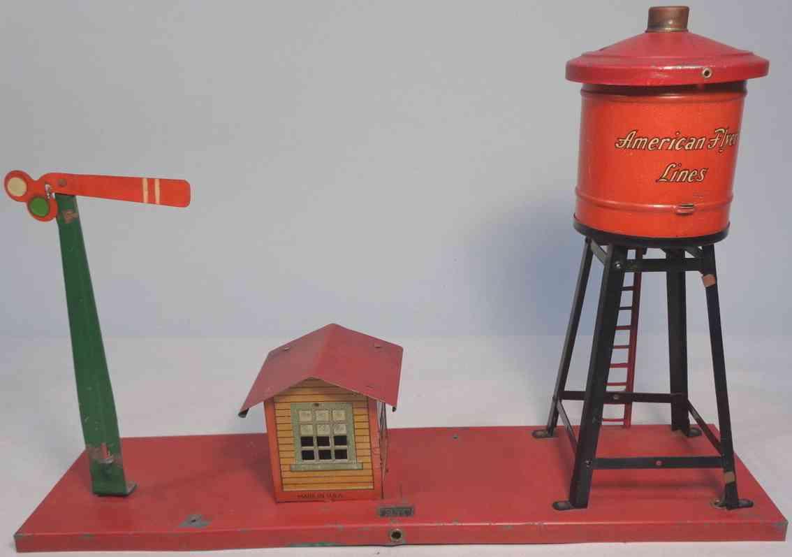 american flyer 235 railway toy water tank set accy semaphore shack