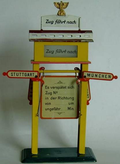 bing 10/6118 spielzeug eisenbahn fahrtrichtungsanzeiger mit verspaetungstafel