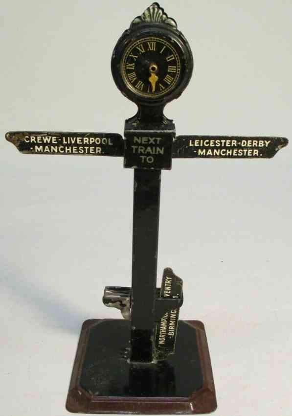 bing 13810/0 railway toy destination sign with 6 direction signs
