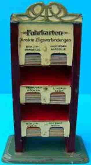 bing 6099.00 railway toy ticket cupboard brown