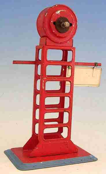 bing spielzeug eisenbahn abfahrtsanzeiger mit uhr rot