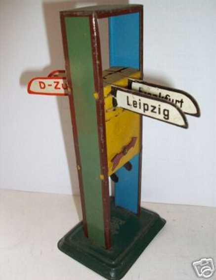 bing spielzeug eisenbahn richtungsanzeiger 4 schilder frankfurt leipzig