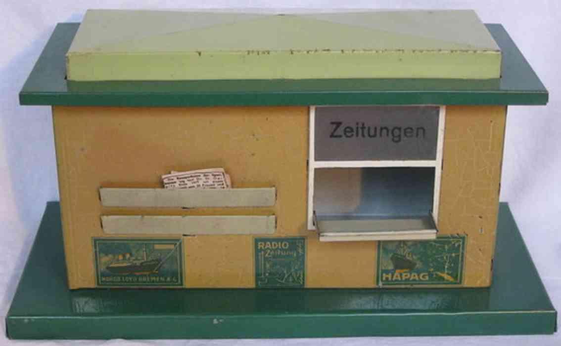 bub 1730 spielzeug eisenbahn zeitungskiosk