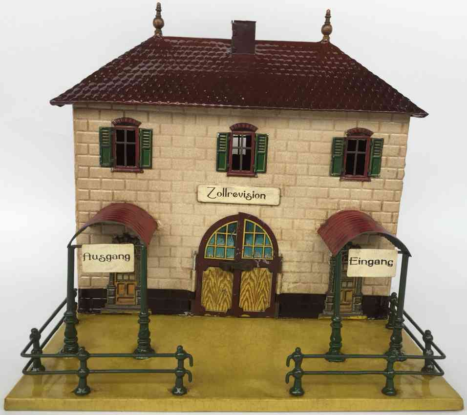 carette 647/81 a railway toy customs house two-story building