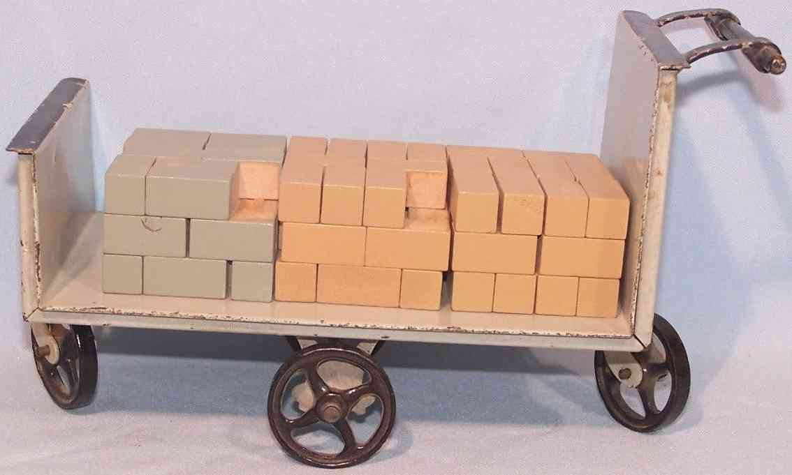 doll 1002/2 railway toy platform accessories luggage cart four irons wheels
